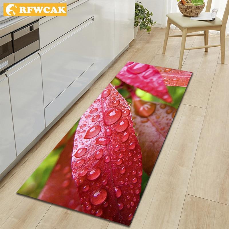 RFWCAK 3D Printing Kitchen Carpet Hallway Doormat Anti-slip Area Rug Modern Living Room Bedroom Doormat Bath Mat In The Hallway