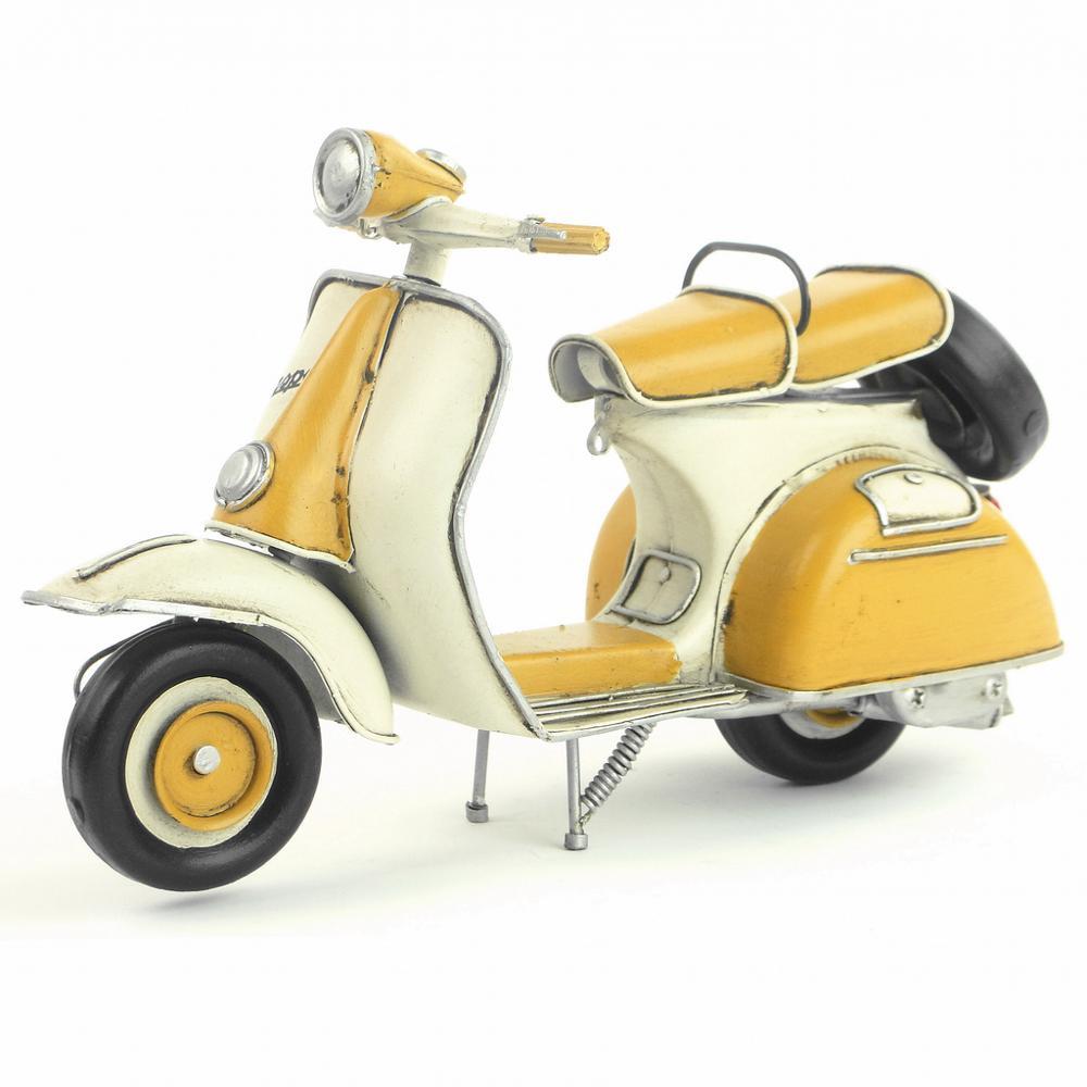 Moto en métal fait à la main Style italien | Rétro, modèle de décoration de la maison, Art et artisanat pour café-restaurant, anniversaire et noël