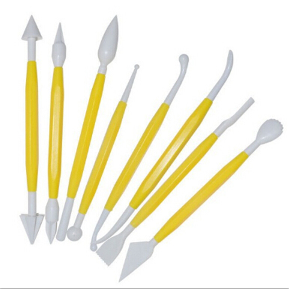 8pcs/set Plastic Clay Sculpting Set Polymer Modeling Clay Tools Poly form Sculpey Tools Set For Shaping Clay Play dough Toys