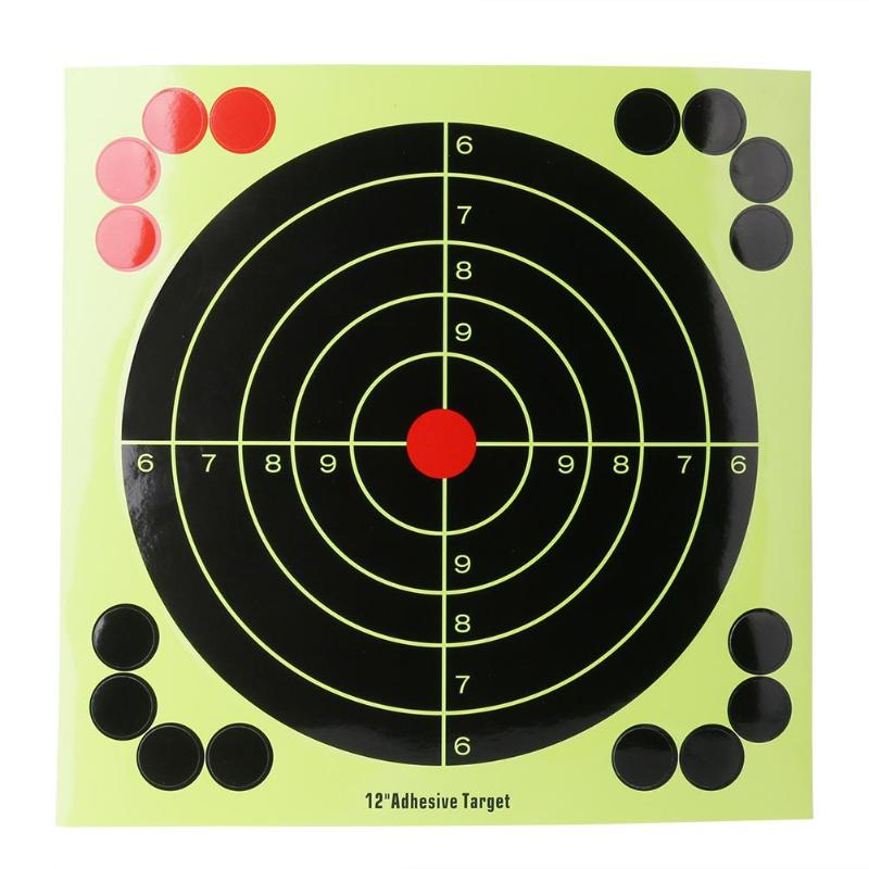 10 Sticks 12-inch Adhesive Shooting Target Stickers Training Aim Papers