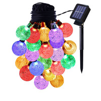 Led Solar 30LED Waterproof Solar Garlands Outdoor Solar Lights Lamp solar Christmas Party Garden Decoration String Strip Lights