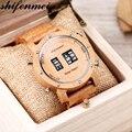 Shifenmei деревянные часы Мужские Цифровые кварцевые часы с роликовым верхом роскошные деревянные Классические наручные часы Мужские часы relogio...