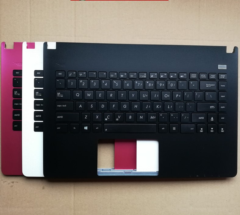 Brand new and original for <font><b>ASUS</b></font> <font><b>X401</b></font> X401A X401U F401A C shell palm rest <font><b>keyboard</b></font> rose red black white image