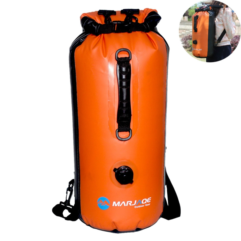 Marjaqe 30L Shoulder Waterproof Bag Ultra Light Multi-Function Drift Bag Kayaking Inflatable Dry Explosion