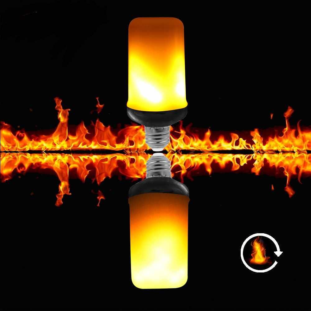 Bombilla Lámparas de llama Led E27 de 2020, efecto de fuego, 220V, 110V, bombilla Led de fuego, efecto parpadeante, emulación, lámpara de luz de llama