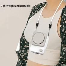 Mini Fan Cooler Neck-Fan Hanging Handheld Rechargeable Personal Adjustable 3-Speed USB