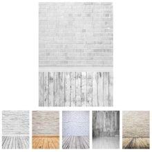 Arrière-plan de photographie mur de brique blanche plancher en bois, arrière-plan de Studio personnalisé pour enfants bébé animal de compagnie, jouet arrière-plan de photomaton