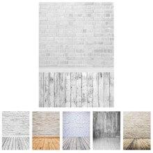 Sfondo fotografico muro di mattoni bianco pavimento in legno sfondo personalizzato Studio per bambini giocattolo per animali domestici per bambini photocphoto Photobooth
