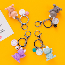 Lucky Cat Key Chain Cartoon Key Chain Personalized Car Key Pendant Smiley Face Key Chain Creative Birthday Gift PVC Key Ring