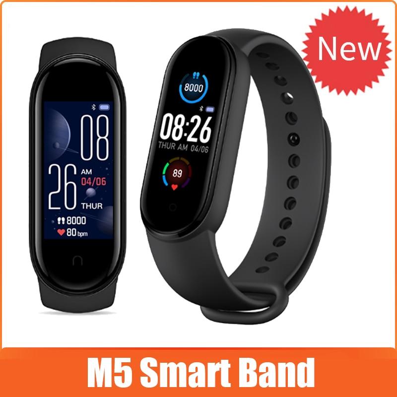Смарт-браслет M5 с цветным IPS экраном, шагомер для фитнеса, спортивный смарт-браслет, браслет с измерением артериального давления, счетчик ша...