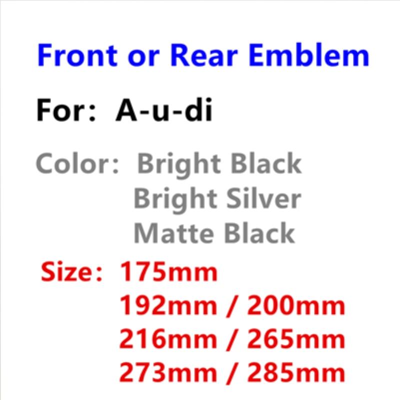 3D ABS 4 кольца на переднюю головку, капот, гриль, эмблема, логотип, задний бампер, багажник, ботинок, знак, наклейка, аксессуары для стайлинга автомобиля