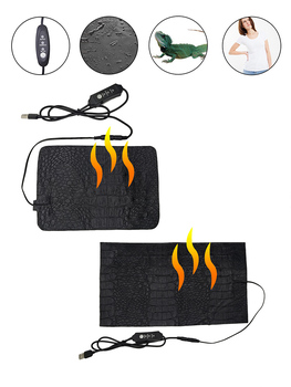 3 Pattern Adjust 9W Pet Reptile Heating Mat Clothes Heating Pad Warmer Heating Pad For People Turtles Snake Lizard Hamster New image
