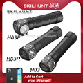 Nova skilhunt h03 h03r h03f led farol lampe frontale cree xml1200lm caça pesca acampamento farol + bandana