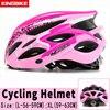 Capacete de bicicleta certificado cpsc ce, capacete de ciclismo mtb com luz traseira e viseira solar 21
