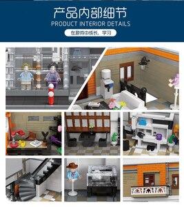 Image 3 - Uyumlu Lepining şehir sokak serisi kristal ev ışık seti modeli yapı taşları tuğla oyuncaklar çocuklar için DIY hediyeler