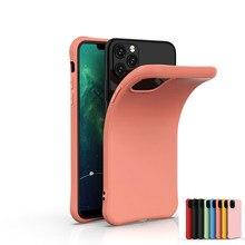 Cukierki kolor etui na telefony dla iphone 12 mini XS XR X 11 Pro Max 8 7 6 6S Plus SE 2020 silikonowe etui miękka TPU matowa tylna okładka