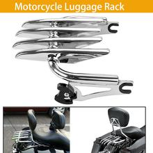 1X Motorcycle Luggage Rack Chrome Stealth Rear Solo Seat  For Harley Touring Street Glide Road King 09-18