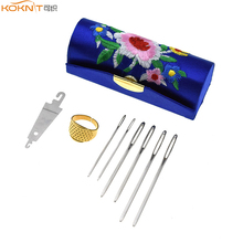 6pcs Large Eye Needles Stainless Steel Embroidery Cross