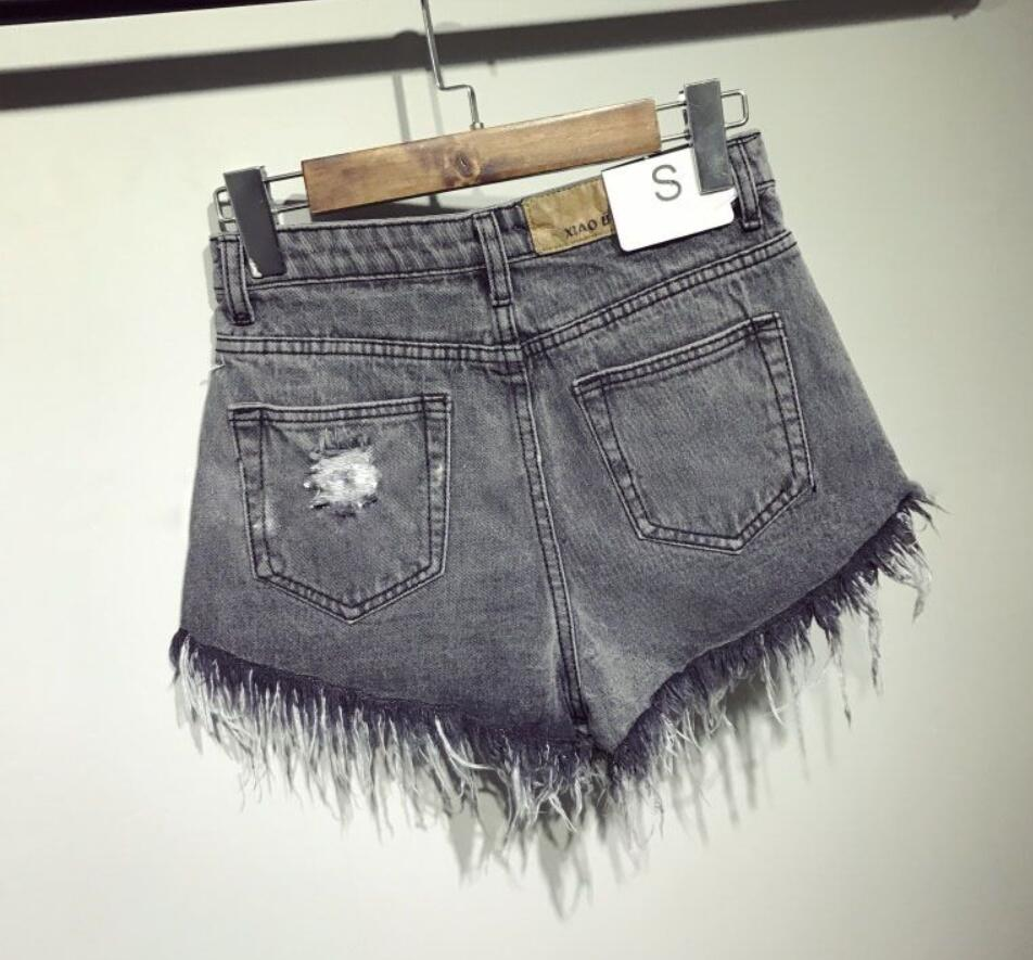 High Waists fur-lined leg-openings sexy short Jeans 24