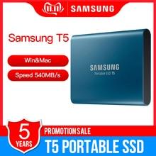 Портативный SSD Samsung T5 500 Гб ТБ 2 ТБ, внешний твердотельный жесткий диск USB 3,1 Gen2 (10 Гбит/с) для ноутбуков и ПК
