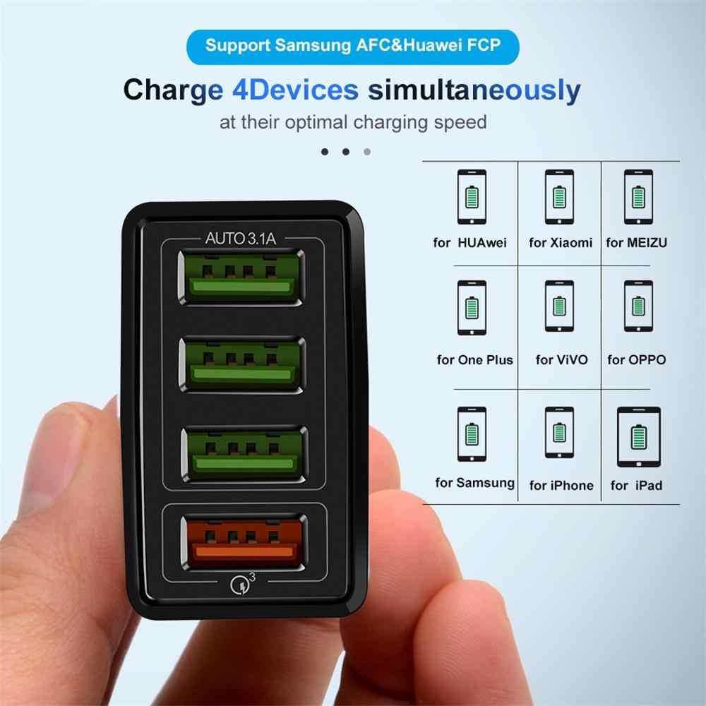 48 w 빠른 충전기 3.0 usb 충전기 삼성 a50 a30 아이폰 7 8 화웨이 p20 태블릿 qc 3.0 빠른 벽 충전기 미국 eu 영국 플러그 adapte