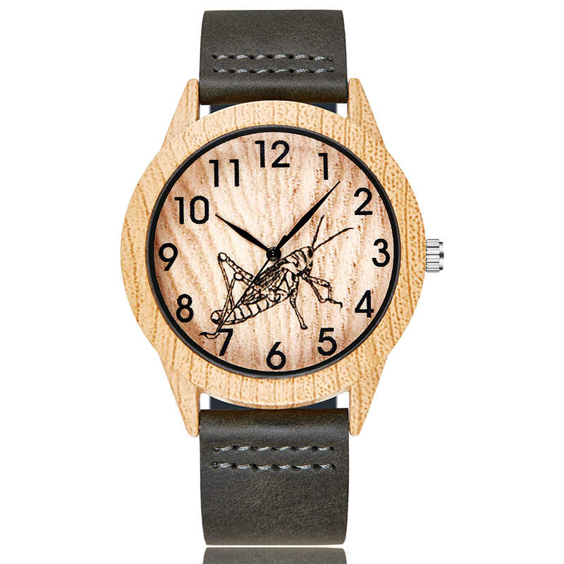 Fashion Imitation Wood Watch Men Women Couple Wristwatch Imitate Wooden Watches Acrylic Case Lover Wrist Clock Skull Reloj Uhr