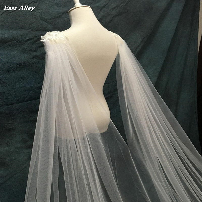 Image 3 - Cathedral Length Wedding Cape Veil  Bridal Cloak Lace Long Bridal Accessories Manto-in Bridal Veils from Weddings & Events