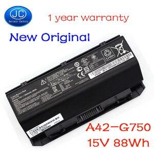 JC New Original A42-G750 Laptop Battery for Asus ROG G750 G750JM G750JS G750J G750JW G750JH G750JX G750JZ Series15V 88WH 5900mAh