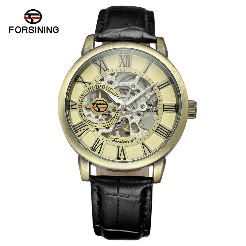FORSINING Fashion Men's And Women's Watches Round Dial Watches Automatic Mechanical Wrist Watches