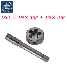 1 Set HSS Left Hand Screw tap and die set M16 M17 M18 M19 M21 M23 M25 Round dies Metric Fine Thread Straight Flute taps