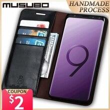 Роскошный чехол Musubo из натуральной кожи для Samsung Galaxy Note 9, чехол для телефона, чехол для S20 Ultra S20 Plus S9, флип чехол, кошелек