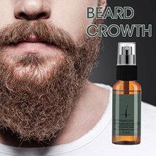 30ml Beard Oil Natural Organic Thick Anti-flaking Beard Care Oil Lasting Moisturizing Beauty Beard Growth Spray