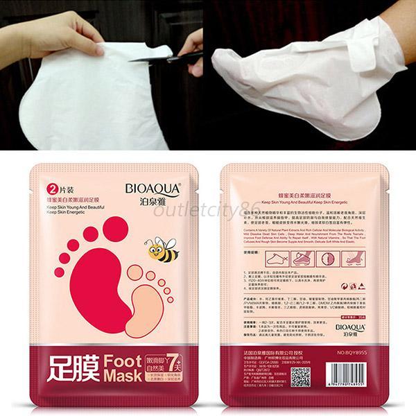 1pc/lot Exfoliating Foot Mask Moisture Peeling Feet Dead Skin Removal Energetic Pedicure Socks Foot Skin Care