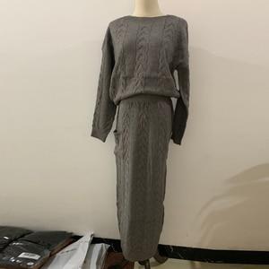 Image 5 - Camisola de inverno abaya dubai turquia muçulmano define hijab vestido caftan kaftan islam vestuário abayas para mulher robe musulman conjuntos