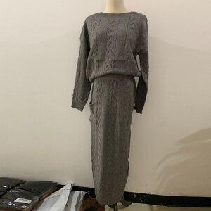 Image 5 - 冬のセーターアバヤドバイトルコイスラム教徒セットヒジャーブドレスカフタンカフタンためのイスラム服abayas女性ローブmusulmanアンサンブル