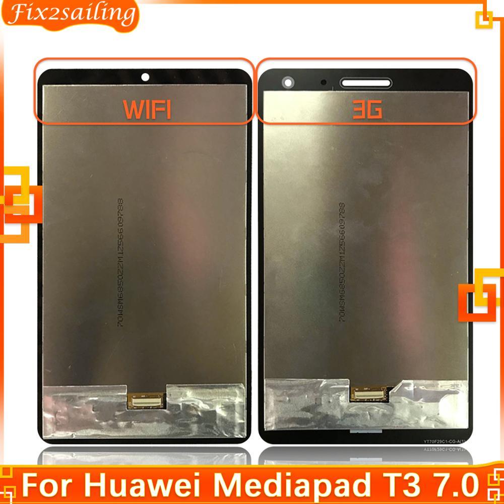 Новинка, ЖК-дисплей для Huawei Mediapad T3 7,0 дюйма, фотографический сенсорный экран с цифровым преобразователем в сборе для Huawei T3 7, 3G, Wi-Fi, ЖК-дисплей