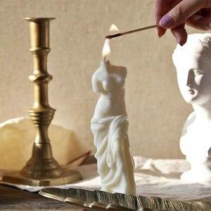 Большая сломанная рука Венера богиня скульптура Форма 3d мифический характер свеча формы силиконовые формы для изготовления свечей
