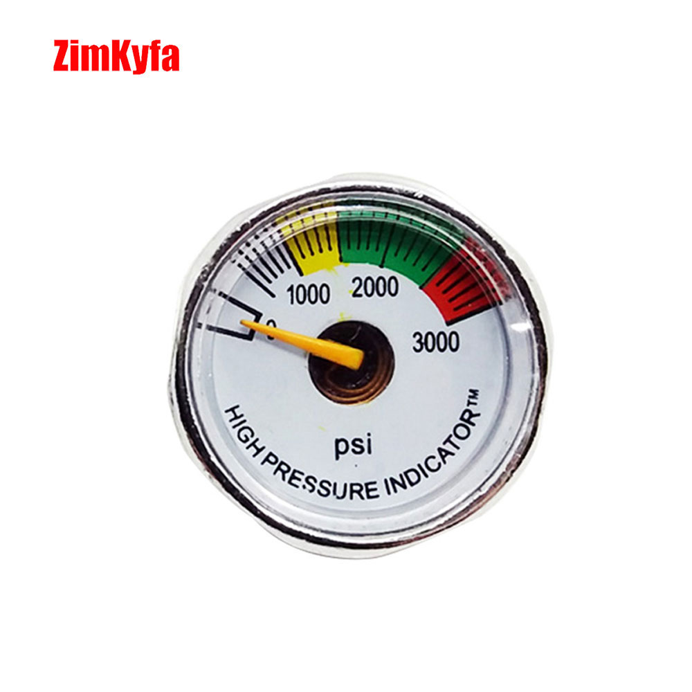 3000psi 1//8NPT Micro Mini Gauge Manometer For Paintball PCP Air Rifle Replace 2x