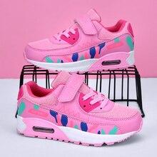 Esportes tênis de corrida crianças meninas tênis adolescente formadores respirável casual tênis ao ar livre sapatos menina preto rosa tamanho grande 37 38