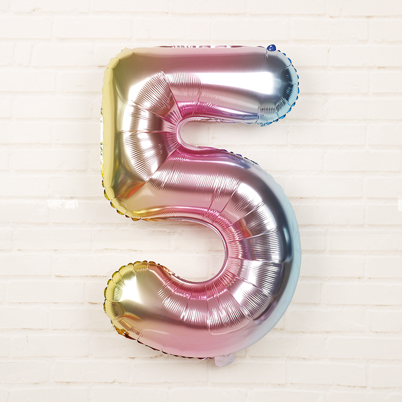 40inch 20th Birthday Party Decorations Number 20 Rainbow Foil Jumbo Digital Mylar Balloons Colorful Party Balloon Supplies