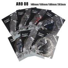 Ashima aro 08 disco de freio rotor ultraleve 85g mtb bicicleta aço inoxidável 140mm/160mm/180mm /203mm 6 parafusos