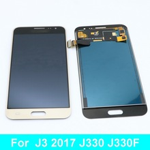 For Samsung Galaxy  J3 2017 J330 J330F Phone LCD Display Touch Screen Digitizer Assembly with Brightness Control can adjust brightness j330 lcd for samsung j3 2017 j330 j330f lcd digitizer touch screen assembly