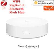 Mais novo multimodo casa inteligente gateway zigbee wifi bluetooth malha hub trabalho com mijia app apple homekit casa inteligente hub 2021