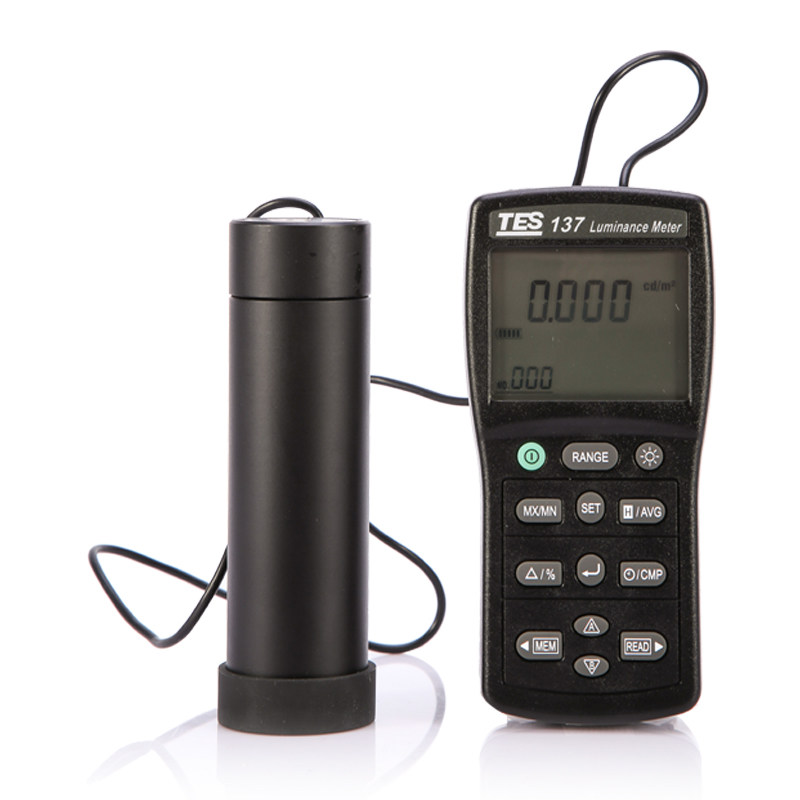 TES-137 Luminance Meter With Dual Display Original From TaiWan LCD Lightness Tester
