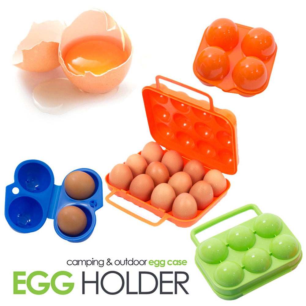 Outdoor Camping Tableware Portable Camping Picnic BBQ Egg Box Container Egg Storage Boxes Travel Kitchen Utensils Camping Gear