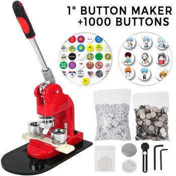"""VEVOR proszę kliknąć na przycisk """" Maker 1 25 Cal 32mm broszka Maker 1000 sztuk aluminium ramki darmowa proszę kliknąć na przycisk """" części i koło Cutter tanie i dobre opinie button maker 200-300 pcs Cast iron and injection Manual"""