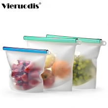 Silicone fresh-keeping bag vacuum sealed food  reusable produce bags home organization and storage Fridge fruit kitchen