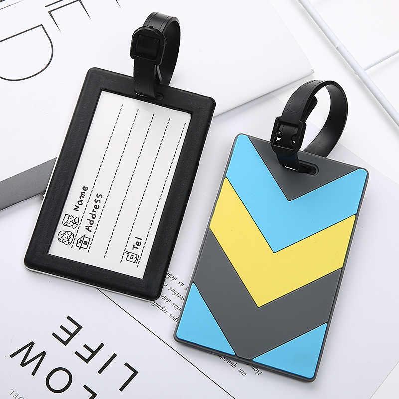 Nuevo equipaje y bolsos accesorios lindo novedad de goma Funky viaje ID Addis titular etiqueta correas maleta equipaje etiquetas Envío Directo