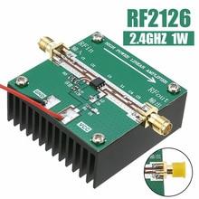 RF2126 400MHZ 2700MHZ 광대역 RF 전력 증폭기 방열판이있는 Bluetooth Ham 무선 증폭기 용 2.4GHZ 1W