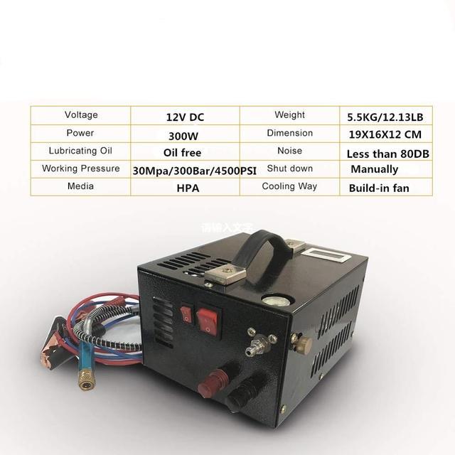 Compresseur dair portable pcp, avec transformateur pour armes à air comprimé, 12V/220V